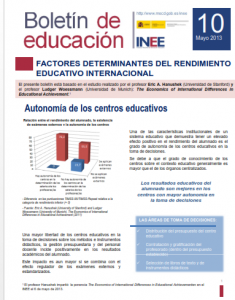 Boletin10.Factores determinantes rendimiento educativo internacional